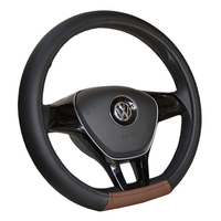 Type D Wear Resisting Breathable Car Steering Wheel Cover Slide Wood Auto Parts To Cover The