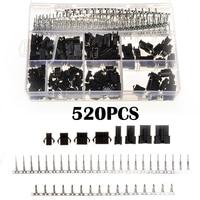 YT 520PCS 2 54mm 2 3 4 5 Pin Black Dupont Cable Terminals Plug Male Female