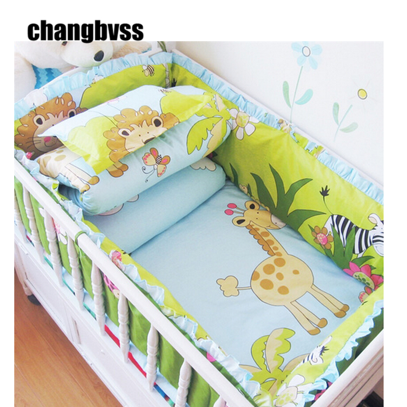 ФОТО Comfortable 5  Baby Crib Bedding SetNursery Bed Bumper Cot Set for Girls BoysMulti Colours Linens