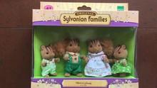 squirrel family original mini size Sylvanian Family original Figures Anime Cartoon figures, Toys Child Toys gift