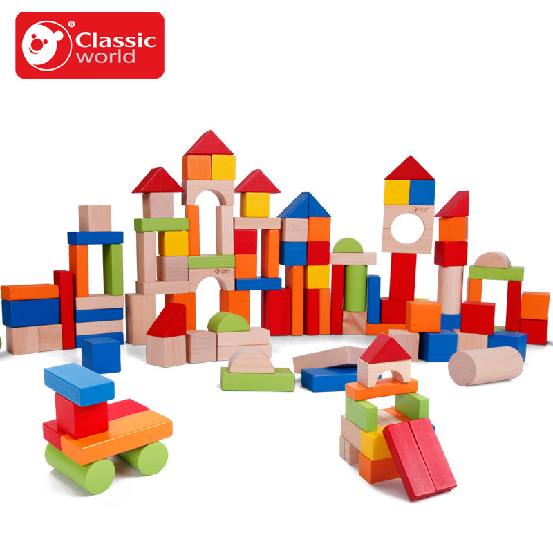 Classic World  100psc  Color Building Blocks Bottled Children's Toy For Color & Shape Identification Exerciseand classic world транспорт