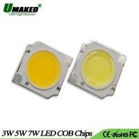 UMAKED Haute Puissance COB LED Lumière Puce 3 W 5 W 7 W 13x13 mmm light111m Balle Intégré SMD diodes Led Ampoule spotlight Plafond Lampe DIY