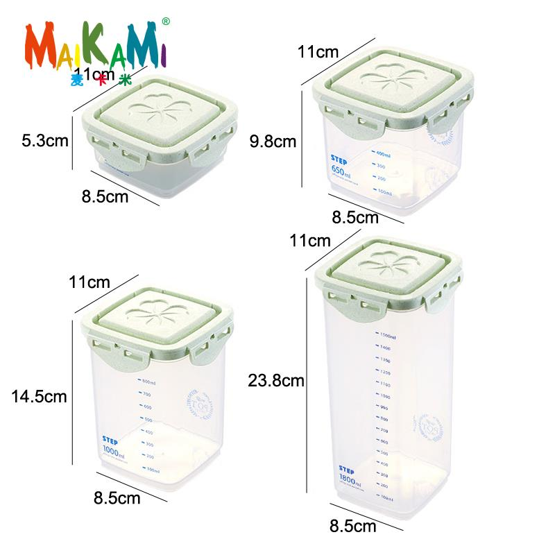 Half Flip Kitchen Container Set and Airtight Food Storage Box Storage for Preservation of Cereals 4