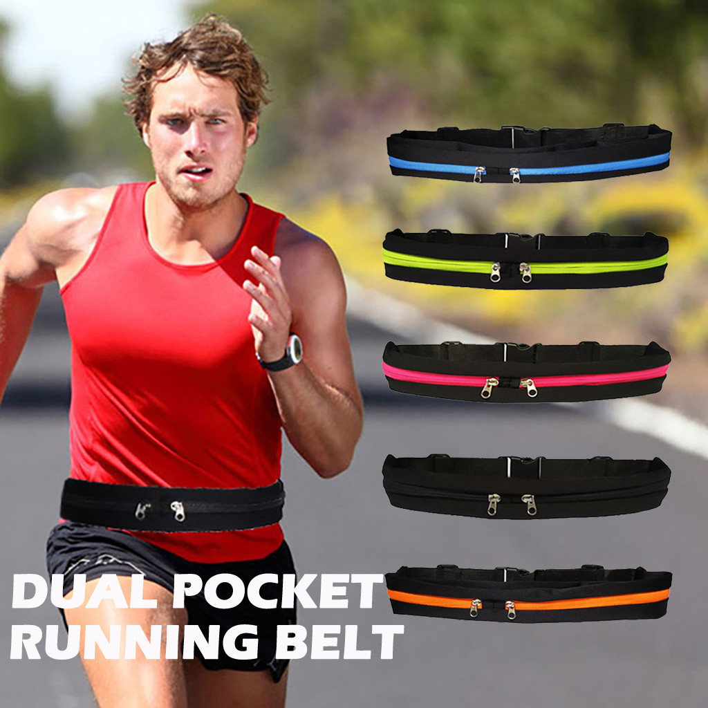 2019 New Backpack Bag Dual Pocket Running Belt Phone Pouch Waist Bag Sports Travel Fanny Pack Cycling Bum Bag Outdoor Belt Bags