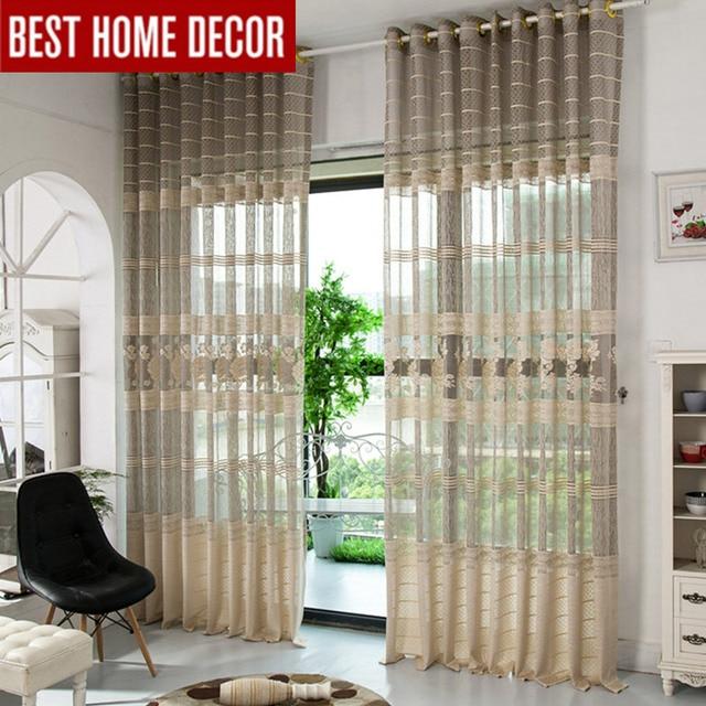 Elka moderno tulle sheer per tende della finestra per soggiorno ...