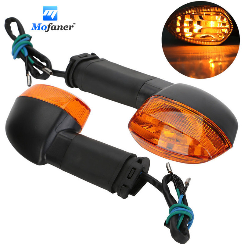 2PCS Motorcycle Turn Signals Indicators Blinker Light Lamp Amber For Yamaha R1 R6 FZ1 FZ6