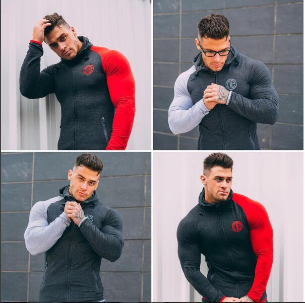 New Hot Sale Sets Mens Fitness Hoodie Embroidered Zipper Suits Sweatshirts Bodybuilding Gyms Casual Slim Fit Workout Tracksuits