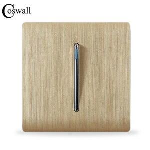 Image 1 - Coswall豪華な壁スイッチパネル、 1 ギャング 2 ウェイライトスイッチ階段スイッチ、シャンパンゴールドカラー、c31 sereis