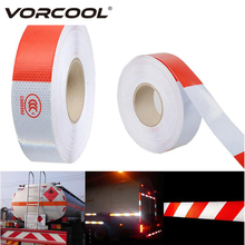 VORCOOL 5cmx45M Car Reflective Strips Tape Sticker Trailer Conspicuity Safety Warning Reflective Tape for Car Trunk Motor Bike