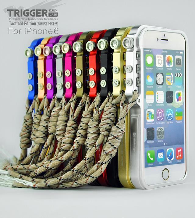 """imágenes para Para Apple iphone 6 plus de DISPARO Táctico Edición de parachoques del Metal para el iphone 6 s plus 5.5 """"prima de metal cubierta de parachoques del capítulo"""