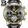 Switzerland BINGER watches men luxury brand Tourbillon fulll stainless steel water resistant Mechanical Wristwatches B-8604-10