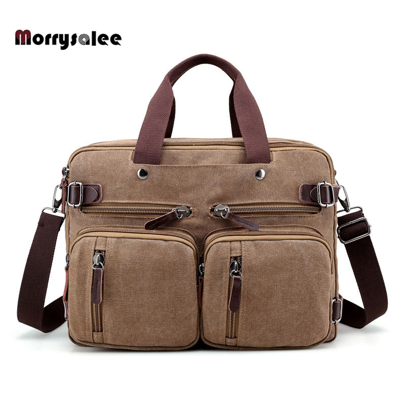 Multi-functional Men's Canvas Bag Travel Bag Shoulder Messenger Bags Large Capacity Crossbody Male Casual Handbags