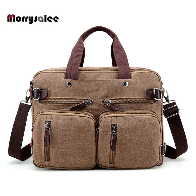 2420ac602f30 Multi-functional Men s Canvas Bag Travel Bag Shoulder Messenger bags Large  Capacity Crossbody Male Casual