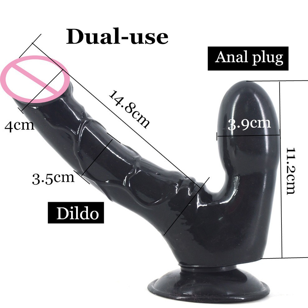HOWOSEX Realistic Double Dildo Soft Anal Consoladores Double Dong Vagina and Anal Butt Stopper Sex Toys for Women Gay Lesbian lesbian woman double ended dildo realistic penis big dick anal and vagina double dong penetration long dildos for women sex toys