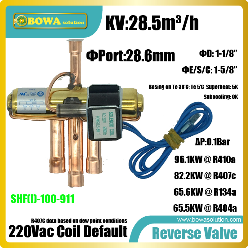 96KW(R410a) Reverse valves is suitable for 4 compressors tandem heat pump air conidtioner system for hotel r410a 9000btu horizontal compressors rv rooftop caravan air conditioner