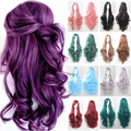 """32"""" 80cm Heat Resistant Synthetic Long Wig 100% Natural Curly/Wavy Full Hair Wigs Multicolors Halloween Cosplay Costume Anime"""