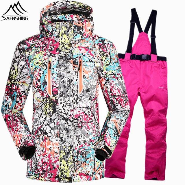 SAENSHING Super Warm snowboarding suits for girls skiing sets Waterproof  10000 ski suit women ski winter jacket snowboard pant 72fa38ddb