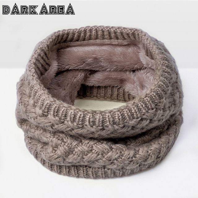 DARKAREA New Fashion Velvet Women Scarf Brand Warm Winter Scarves For Children O-Scarf For Boy&Girl Kid Collar Warm Bufandas