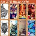 Бриллиант Живопись ТПУ Чехол Для ZTE Blade A610 610 Стенд стиль Искра Голубая Бабочка Дизайн Для ZTE a610 мягкий чехол tpu крышка
