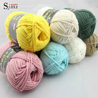 FREE SHIPPING Milk Cotton Yarn Thick Hand Knitting Scarf Coat Yarn 400g 4pieces Lot And 4
