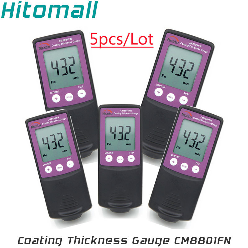 Handheld Coating Thickness Gauge Painting Thickness Measurement  Film Thickness Meter Car Paint Tester CM8801FN-5 new digital paint coating thickness