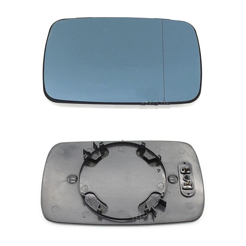 Left Passenger side Flat Wing door mirror glass for Volvo XC70 2000-2006