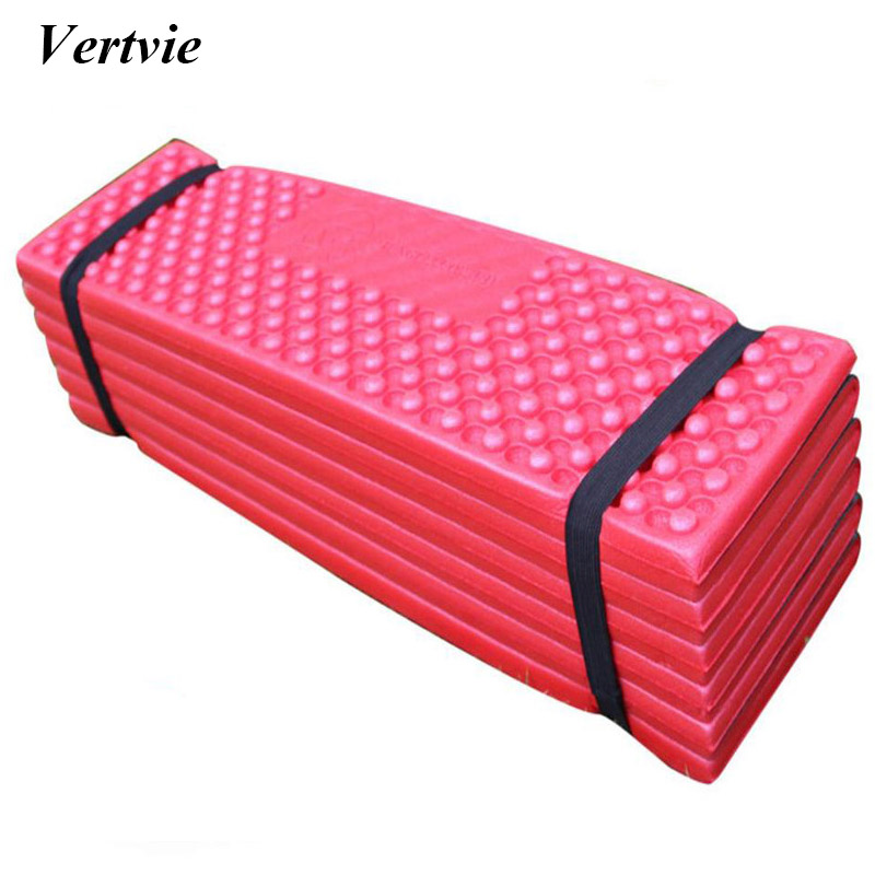 Vertvie Nest-Egg Shaped Folded Outdoor Camping Mat Thicken Nap Pad Moisture Resistant Picnic Sandbeach PVC <font><b>Mattress</b></font> Mat 190*57cm