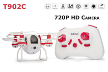 GTeng T902C 720P HD Camera 4CH 6 Axis Gyro Headless RC Helicopter with One Key Return
