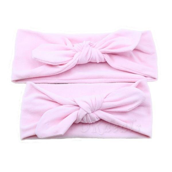 1 SET Mom and Me boho Turban Headband Pair Set Top Knotted Headband Set Fashion Baby and Mommy Cotton Headwrap Set