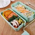900 мл здоровый материал Ланч-бокс 3 слоя пшеничной соломы Bento коробки микроволновая посуда контейнер для хранения еды Ланчбокс