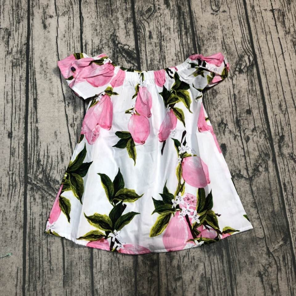 baby girls woven pink boutique limonade top shirts