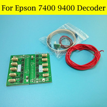 TOP selling !! Decoder for Epson Stylus PRO 9400 7400 printer 7400 chip decoder use for T5678 T5674 ink cartridge easy to install auto reset chip decoder for epson stylus pro 4800 printer decoder chip 2pcs per set