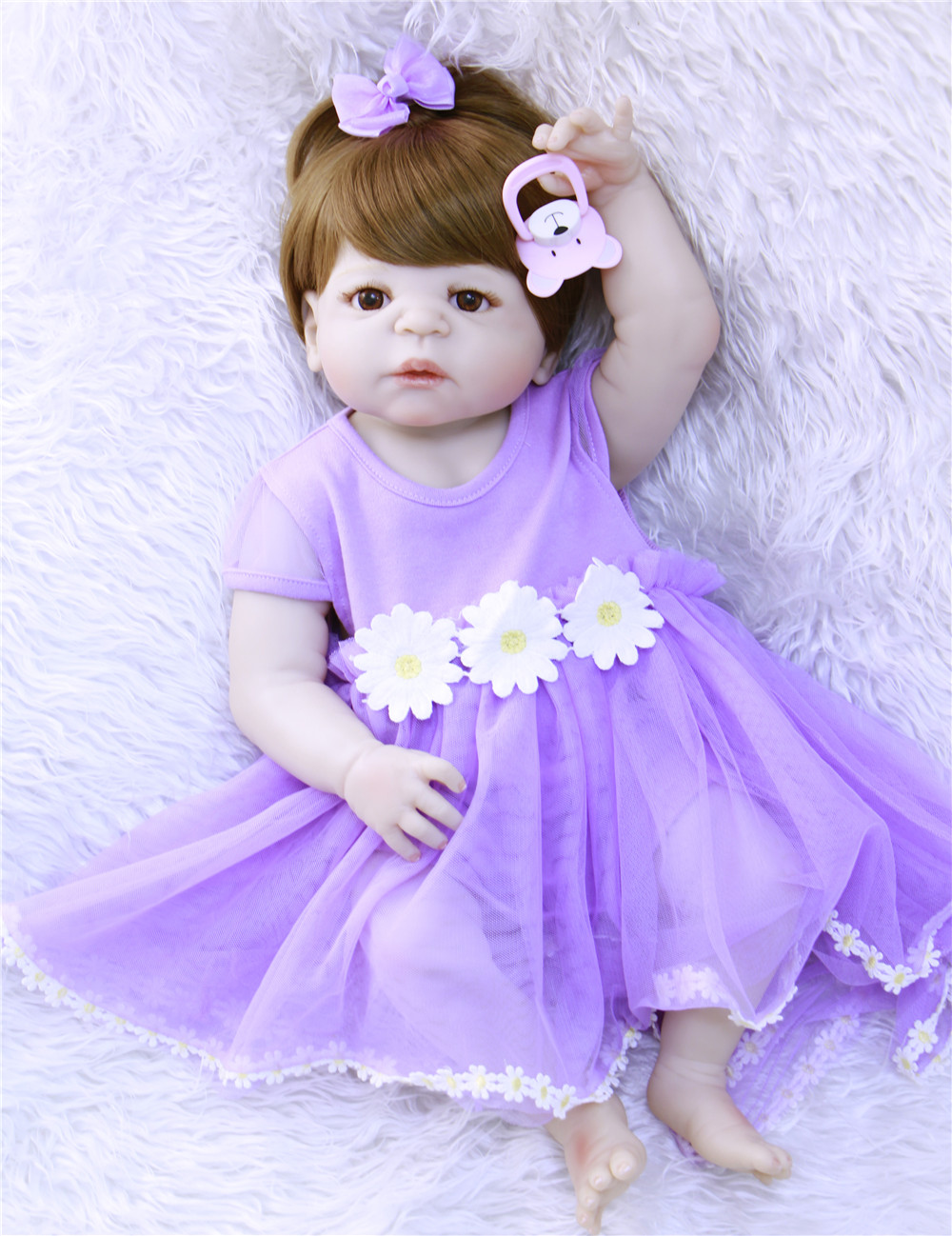 2357cm Full Body Silicone Reborn Baby Doll Toy  Newborn Girl Princess Toddler baby alive dolls bebe gift reborn bonecas2357cm Full Body Silicone Reborn Baby Doll Toy  Newborn Girl Princess Toddler baby alive dolls bebe gift reborn bonecas