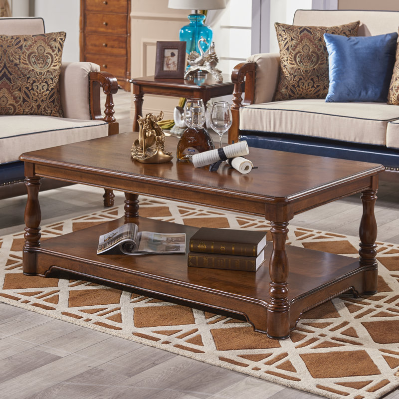 American country minimalist wood coffee table tea small ...