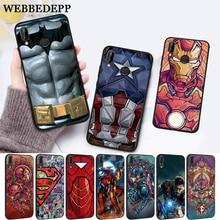WEBBEDEPP Marvel Captain America Iron Man Silicone Case for Huawei P8 Lite 2015 2017 P9 2016 Mimi P10 P20 Pro P Smart 2019 P30 все цены