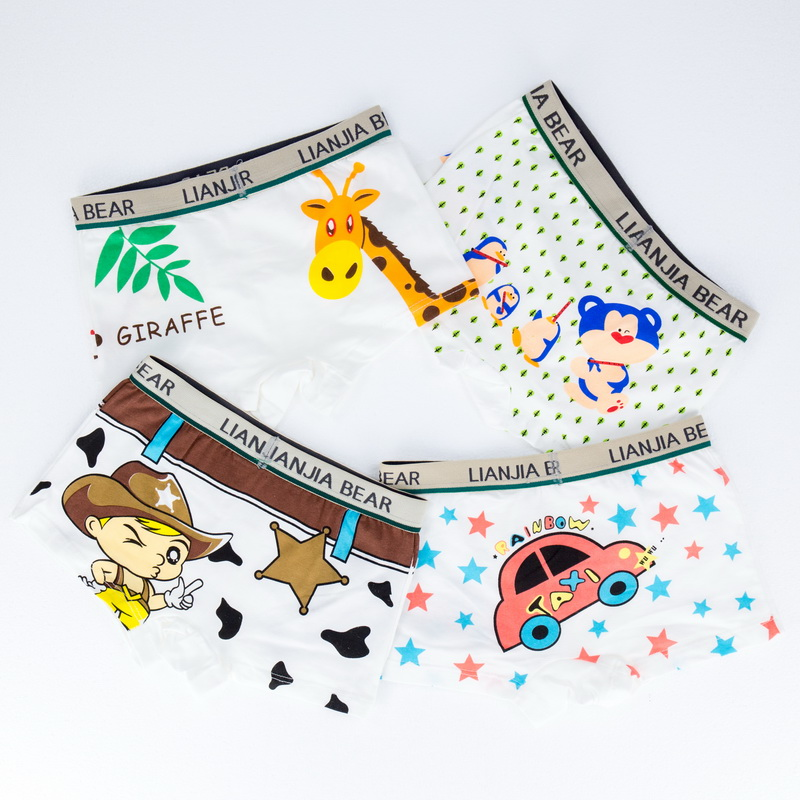 Boy Boxer 4 Pcs/lot Baby Boys Underwear Kids Panties