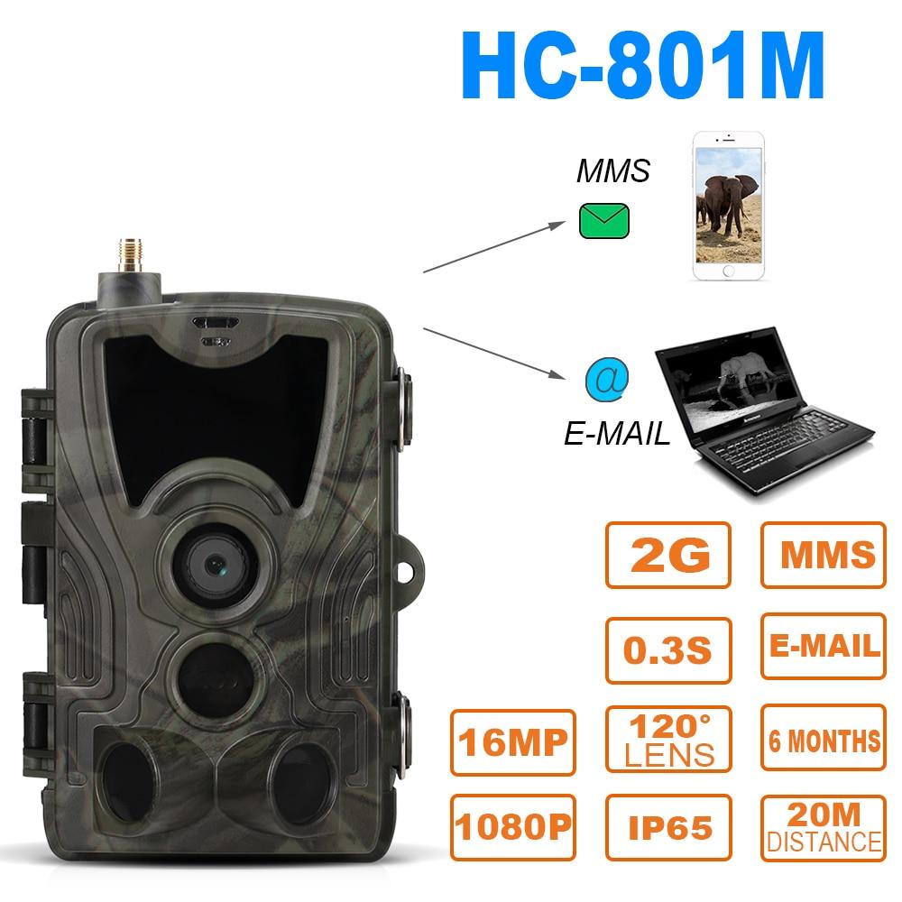 SUNTEKCAM HC-801M 2G 16MP 1080 P caméra de chasse caméra de suivi SMS/MMS/SMTP pièges Photo 0.3 s déclencheur temps piège faune
