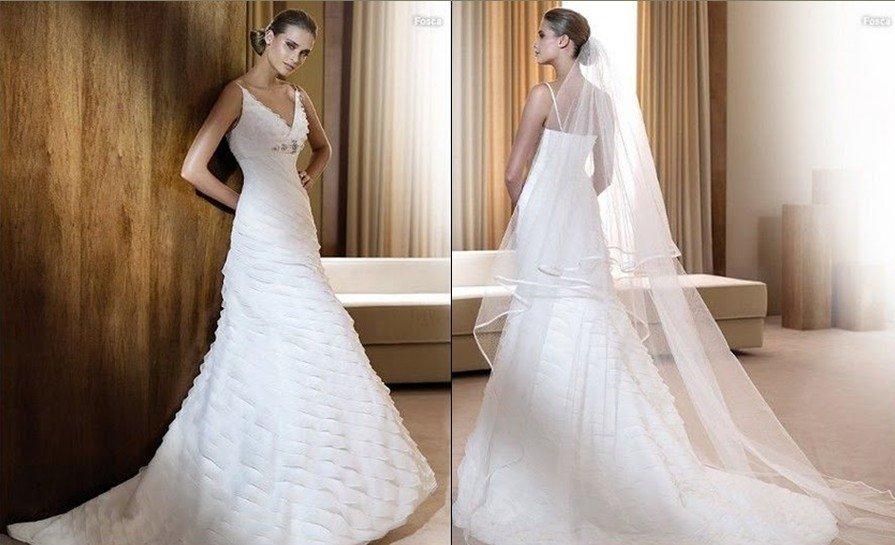 New Arrival Spaghetti Strap V Neck Latest Wedding Dresses-in ...