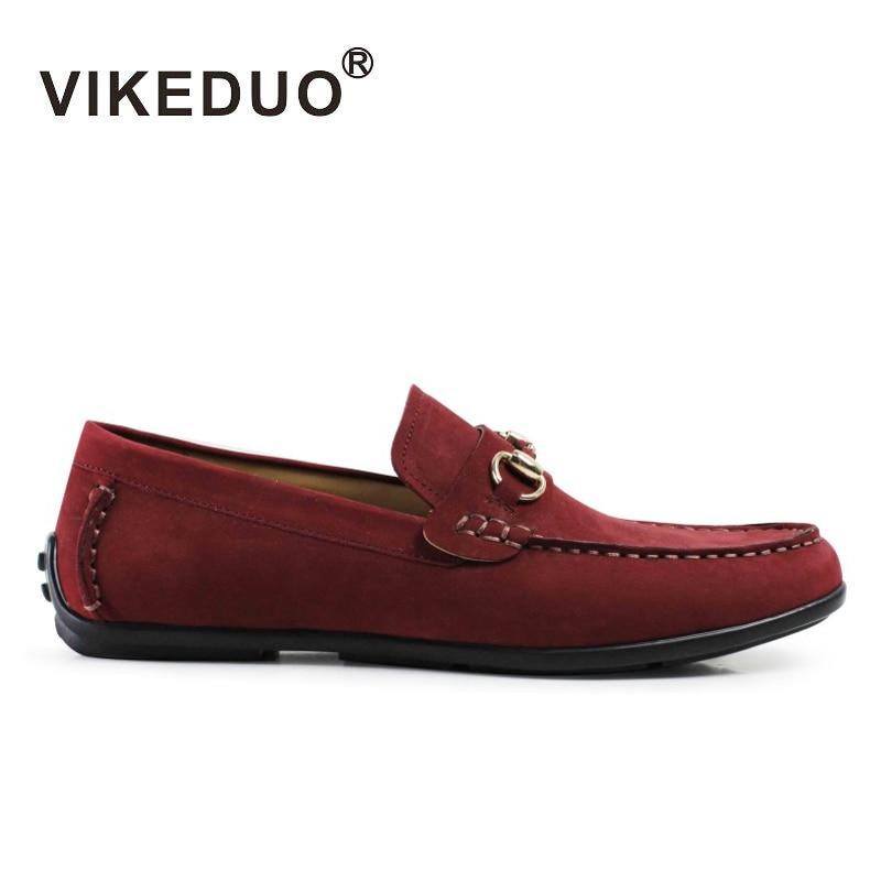 Vikeduo Handmade Designer Men's Casual Doug Shoes Genuine Leather Male Leisure Shoe Fashion Luxury Living Comfortable Designer doug moy h living trusts