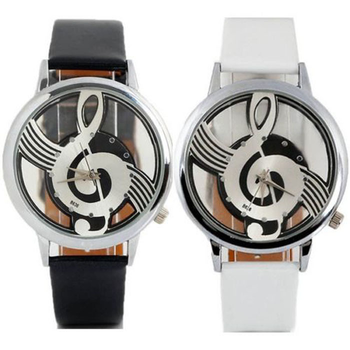Hot Selling Music Ladies Watches Fashion Creative Notes Watches Girls And Girls Belt Watches