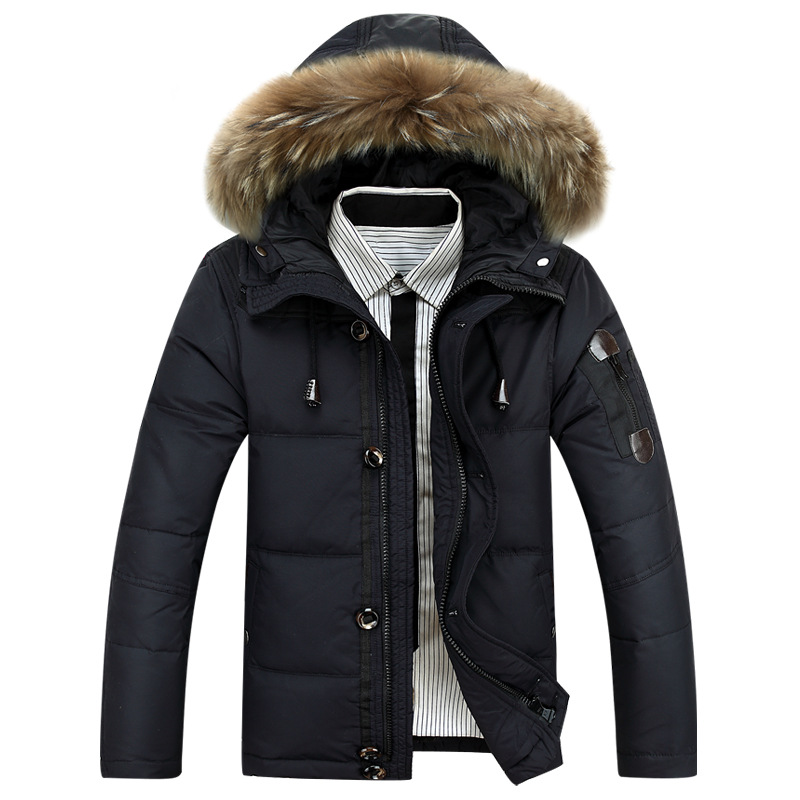2017 Winter Jackets Mens Light   Down   Men Duck   Down     Coat     Down   Parka Mans Jacket   Coats   Genuine Fur Parkas Brand Clothing Overcoat