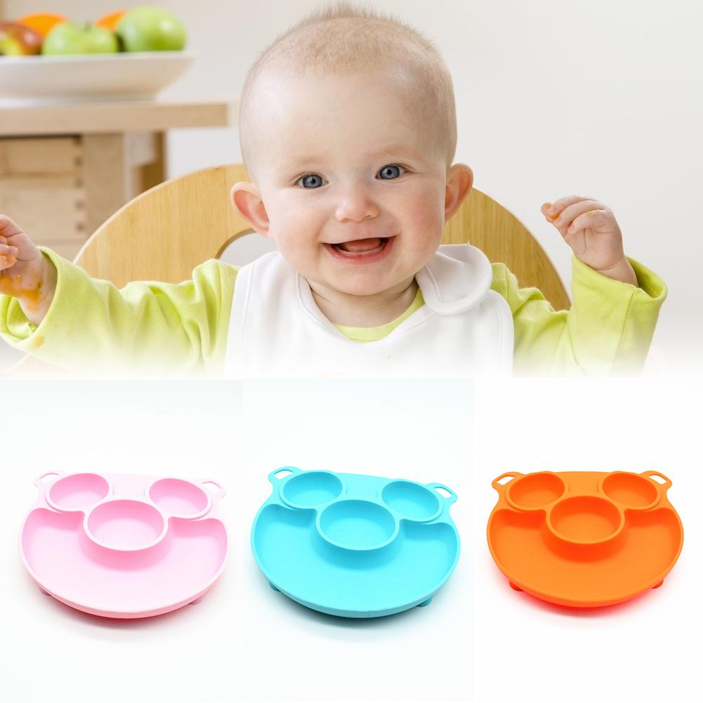 Silicone Placemat Feeding Tray Free Suction Plates Cartoon