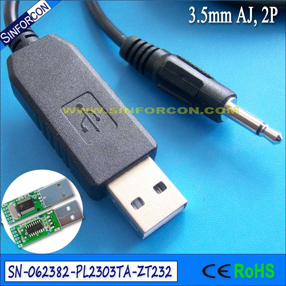 prolific pl2303ta usb serial rs232 adapter cable with 3.5mm jack 2 ...