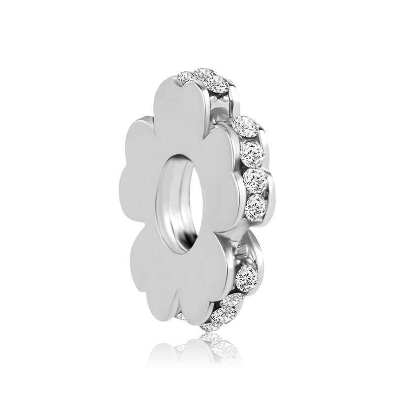 2018 nova frete grátis 1 pc & rose gold flower spacer jóias diy bead Serve Para Europeu pandora Charm bracelet A1052