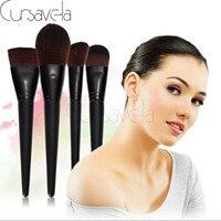 4pcs Makeup Brushes Set Goat Hair Professional Brown Makeup Brush Foundation Powder Blush Eyeliner Brushes EAB037