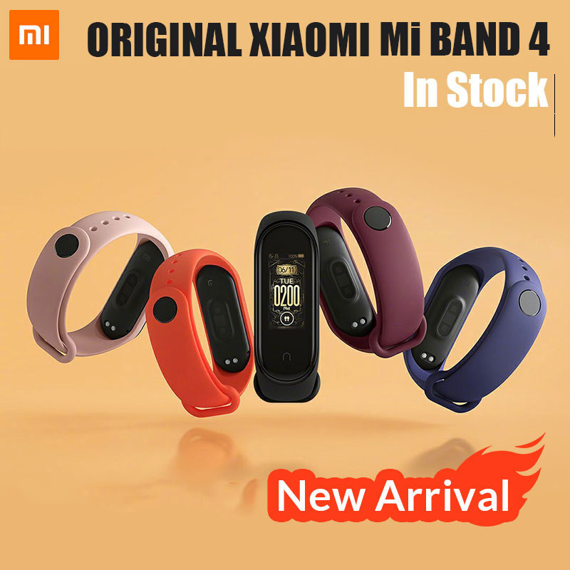2019 Newest Xiaomi Mi Band 4 Smart Color Screen Bracelet Heart Rate Fitness 135mAh Bluetooth 5.0 50M Swimming Waterproof