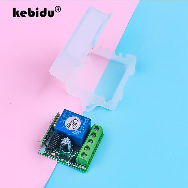 Kebidu 433 МГц 12 В постоянного тока беспроводной пульт дистанционного управления переключатель для обучения кода передатчик дистанционного управления 220 В 1 канал реле 433 МГц модуль приемника