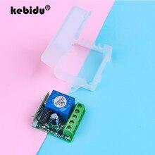 Kebidu 433 Mhz DC 12V 무선 원격 제어 스위치 학습 코드 송신기 원격 220V 1CH 릴레이 433 Mhz 수신기 모듈