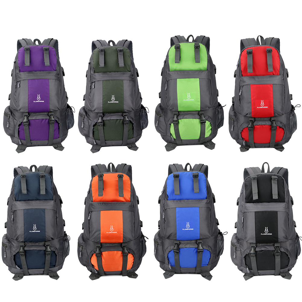 Flame Horse Waterproof Nylon Outdoor Hiking Backpacks Sports Bag Unisex Large Capacity Mountaineering Travel Climbing Rucksack mountec large outdoor backpack travel multi purpose climbing backpacks hiking big capacity rucksacks sports bag 80l 36 20 80cm
