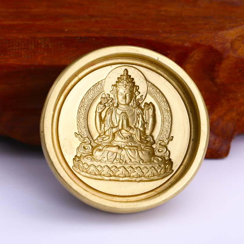 Buda limpar molde/par de Bronze Artesanato Buda Tsa Tsa/Tsa Tsa par de lama/religiosa excelente/adoração coleção